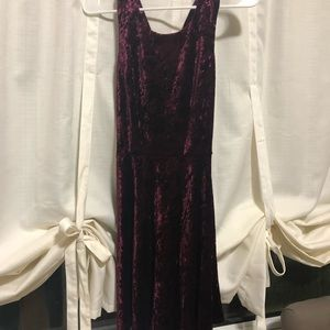 Burgundy Crushed Velvet Altar'd State Dress